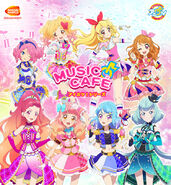 Aikatsu Series Bandai Namco Cafe of March and April 2019