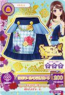 Card falda azul oscuro y cielo con rosas