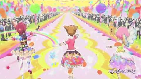 Aikatsu!-Otome Arisugawa & Sakura Kitaōji & Kaede Ichinose- Ponytail After School -Episode 60