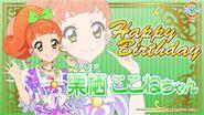 Happy Brithday Kokone Aikatsu Cafe Namco