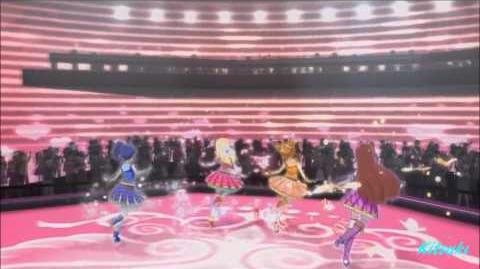 【HD】Aikatsu! - episode 73 - Ichigo & Aoi & Ran & Otoma - Happy crescendo - with chan