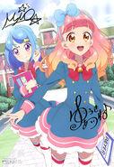 Yande.re 446114 aikatsu! aikatsu friends! autographed minato mio okutani chikako seifuku thighhighs yuuki aine