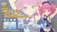 Happy Brithday Laura Aikatsu Stars Cafe Namco