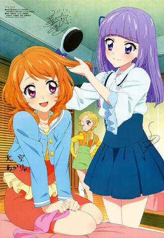 File:Sumire brushing Akari's hair.jpeg