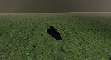 Turret in the marsh water