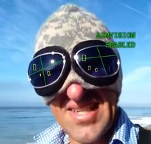 Early aimvision goggles built into beanie for warmth and maximum precision