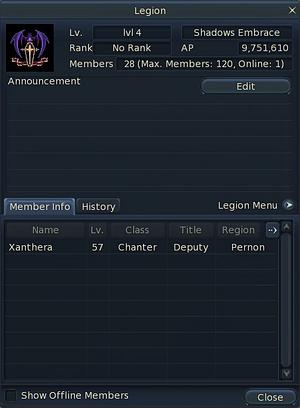 Legion Window