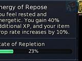 Energy of Repose