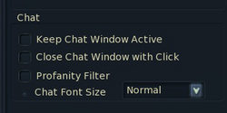 Chat options