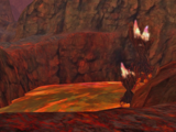 Red Lava Cliff