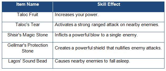 Taloc skills