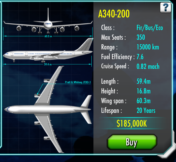 airbus a340 air tycoon online wiki fandom powered by wikia