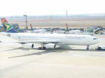 Saa a340-200 jhb international airport