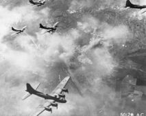 752px-B-17F formation over Schweinfurt, Germany, August 17, 1943