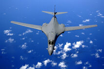 B-1B over the pacific ocean