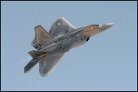 Lockheed F22 Fighter in Flight