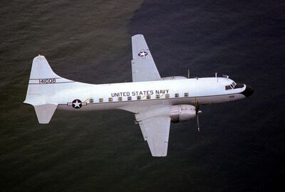 C-131F Samaritan VR-48 in flight 1983