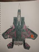 Made-up F-15E Strike Eagle in Francine Davout's plane colors