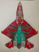 Made-up YF-23A Black Widow II in Pierre Gallo's plane colors
