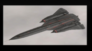 "E.D.A.F. SR-71A Blackbird from ""The Robbers"" Over the cloud"