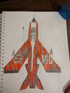 Made-up Lightning F6 in Albert Ungar's plane colors