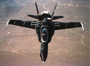 F-18 HARV In Flight