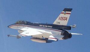 F-16 VISTA in flight