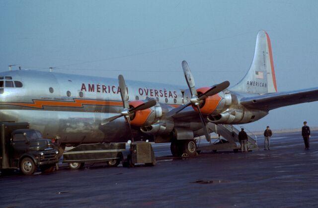 File:Boeing 377 Stratocruiser American Overseas 1949-50.jpg