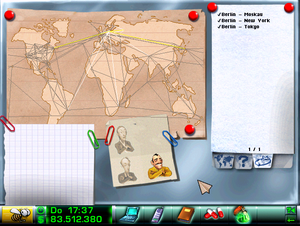 Airline Tycoon Routeboard