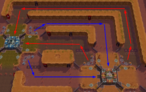 Battle PvE - Attack Lanes Zoomed