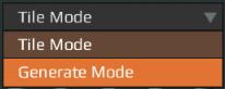 Terrain edi mode dropdown