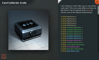 Card Collector Crate Full