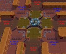 Battle PvE - Death Zones + Attack Lanes