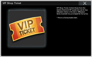 VIP Shop Ticket