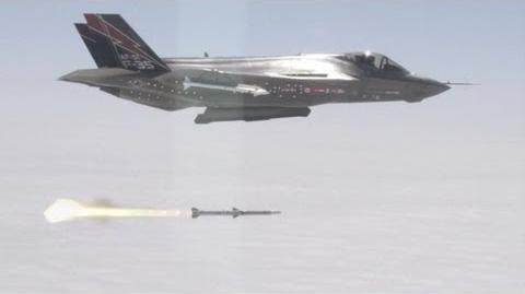 Lockheed Martin - F-35A Stealth Fighter First AIM-120 AMRAAM Launch Test 720p-0