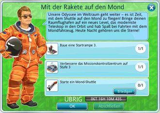 Mit der Rakete auf den Mond