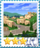 Small Village-Stamp
