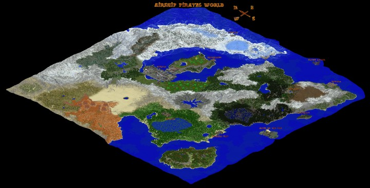 World map airship pirates wikia fandom powered by wikia world map gumiabroncs Image collections