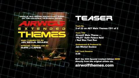 AIRWOLF Extended Themes CD1 Track 2 Teaser - Airwolf Theme PILOT Kafir Red Star