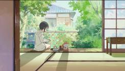 Ayuko tomando té