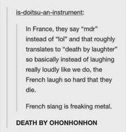 Death by onhonhonhon
