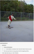 Jesus on a skateboard