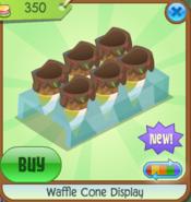 Waffle Cone Display yellow