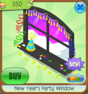 NYS New Year's Party Window black
