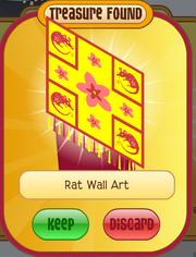 Rat wall art