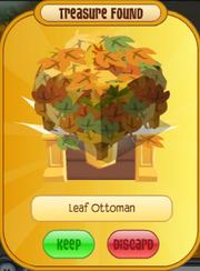 Leaf Ottoman