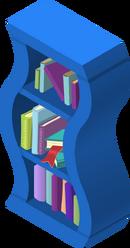 Wavy Bookshelf Blue