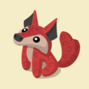 Item Exclusive Coyote Plushie red