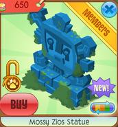 Mossy Zios Statue (blue)
