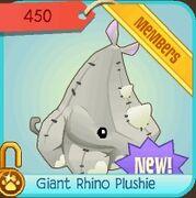 Animal-Museum Giant-Rhino-Plushie